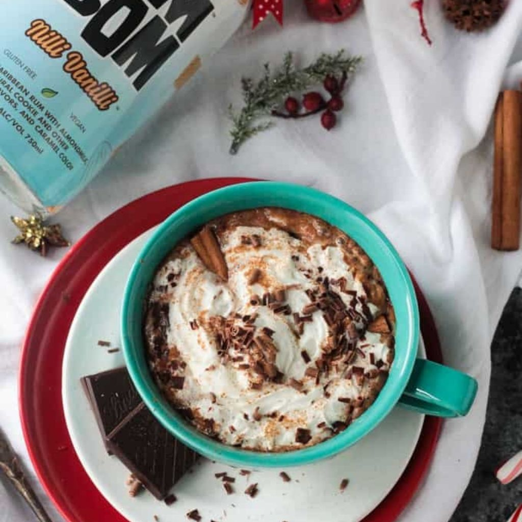 Spiked Hot Cocoa W/ Cinnamon (Dairy-Free)