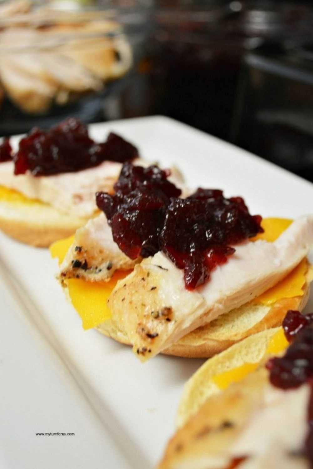 One Of The Best Leftover Turkey Recipes-Turkey Cranberry Sliders