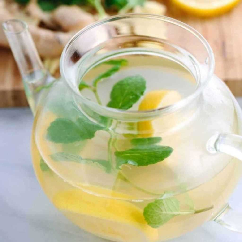 Ginger Root Tea With Lemon And Mint Fragrance