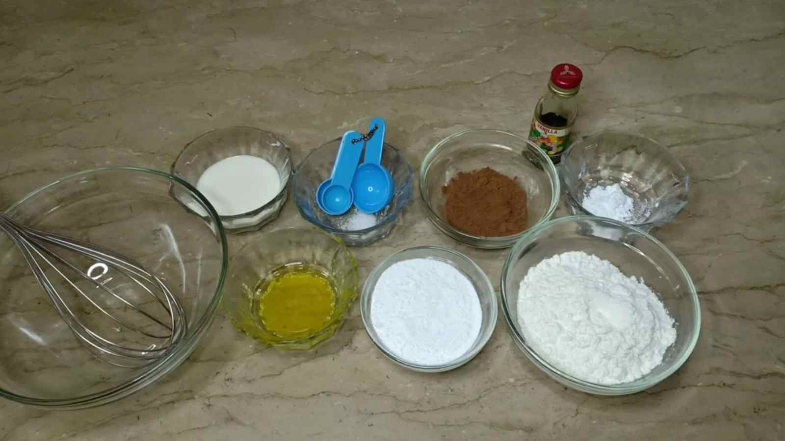Ingredients for Brownie recipe